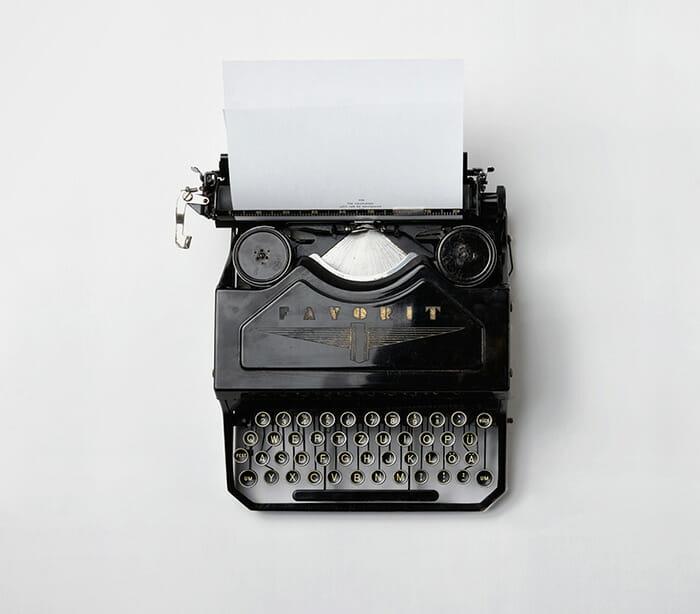 Help Scout Help Desk software typewriter