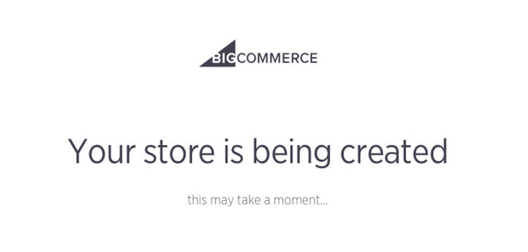 Big Commerce review trial store pending