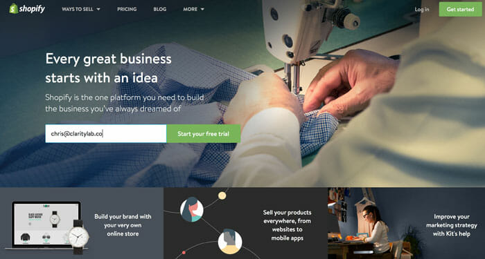 Shopify Review Home Page Clarity Lab