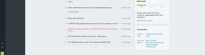Shopify Review Order Detail 2 Clarity Lab