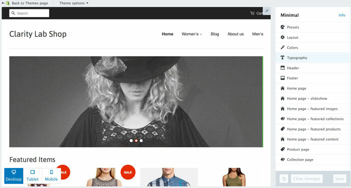 Shopify Review Theme Edit Clarity Lab