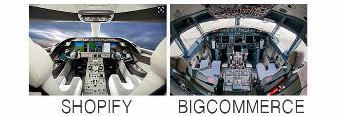 Shopify is like a Leer Jet, BigCommerce is like a 737