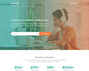 Sell online courses with teachable